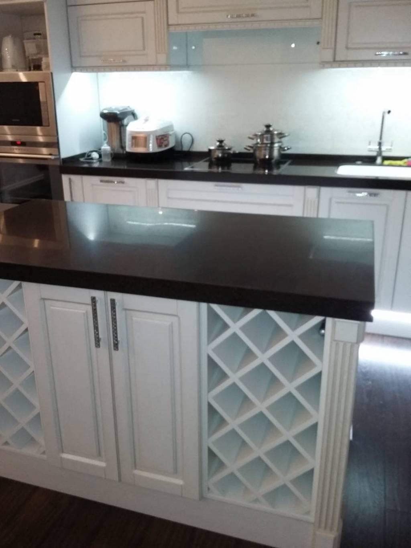 Островная столешница к кухонному гарнитуру (камень Samsung Staron и др. цвета в ассортименте)
