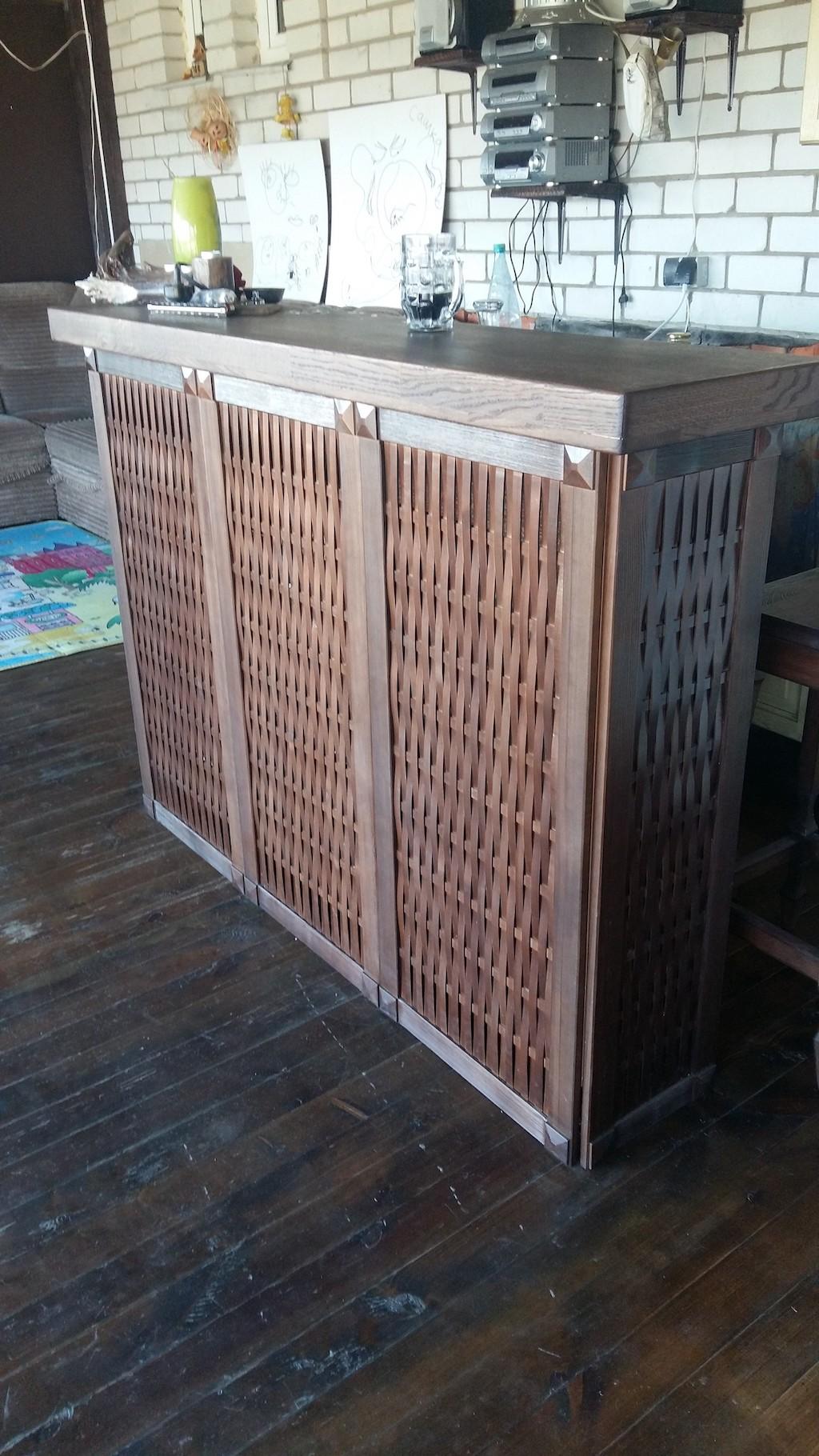 стойка столешница массив дуба фасад массив сосны